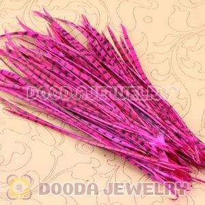 Magenta Striped Goose Biots Loose Feather Hair Extensions Wholesale