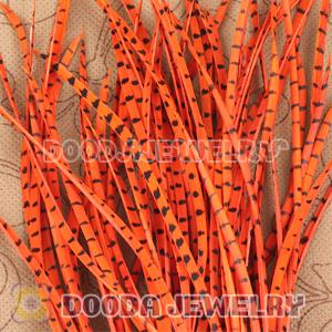 Orange Striped Goose Biots Loose Feather Hair Extensions Wholesale