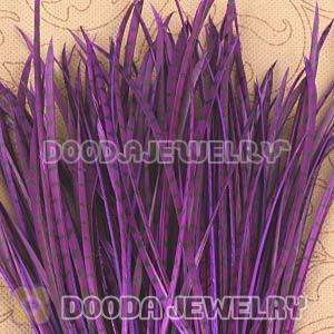 Purple Striped Goose Biots Loose Feather Hair Extensions Wholesale