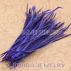 Blue Striped Goose Biots Loose Feather Hair Extensions Wholesale