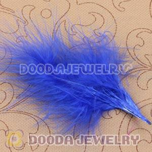 Natural Blue Fluffy Short Rooster Feather Hair Extensions Wholesale