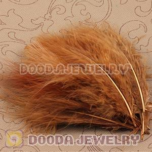 Natural Grizzly Fluffy Short Rooster Feather Hair Extensions Wholesale
