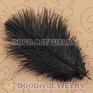 Black Plumes Big Flake Ostrich Feather Hair Extensions Wholesale