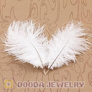 White Plumes Big Flake Ostrich Feather Hair Extensions Wholesale