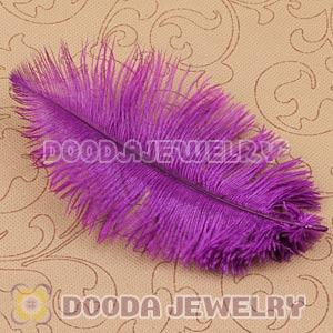 Purple Plumes Big Flake Ostrich Feather Hair Extensions Wholesale