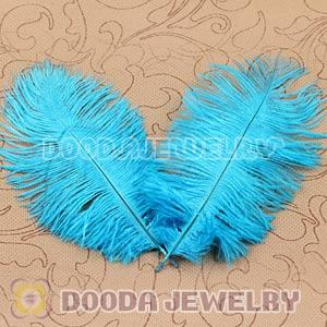 Cyan Plumes Big Flake Ostrich Feather Hair Extensions Wholesale