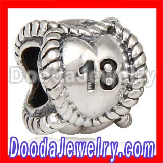 Pandora Sterling Silver Message Beads