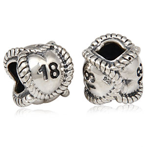 Sterling Silver Message Bead 18